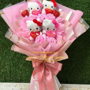 Rose with Teddy Bouquet