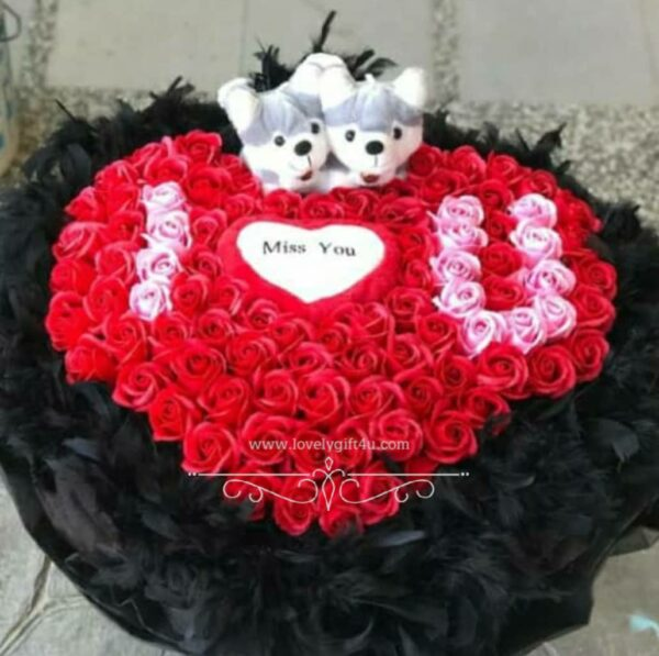 Rose with Teddy Bouquet -Valentine's Gift