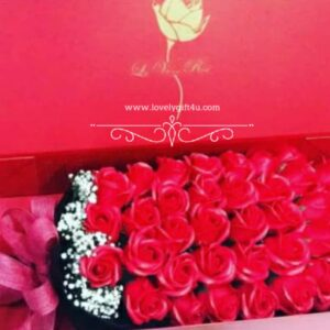 Rose Soap Flower Gift Box Bouquet Valentine's Day Gif